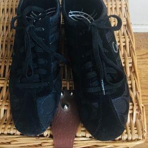 Coach Henrietta Sneakers -7 black , black laces ,